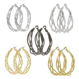 Alexa Starr Twisted Hoop Earrings