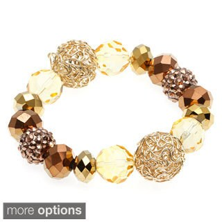 Alexa Starr Metallic Beaded Stretch Bracelet