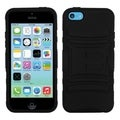 BasAcc Black/ Black Case with Stand for Apple iPhone 5C