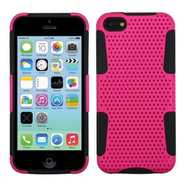 INSTEN Hot Pink/ Black Astronoot Phone Case Cover for Apple iPhone 5C