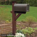 Phat Tommy Poly Resin Wood-look Mailbox Post