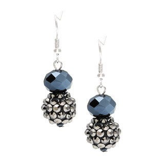 Alexa Starr Metallic Faceted Glass Bead and Fireball Drop Earrings