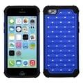 INSTEN Dark Blue/ Black TotalDefense Phone Case Cover for Apple iPhone 5C