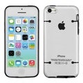 BasAcc Clear/ Solid Black Tentacles Gummy Case for Apple iPhone 5C
