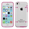 BasAcc Clear/ Solid Pink Tentacles Gummy Case for Apple iPhone 5C