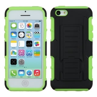 BasAcc Black/ Green Car Armor Case with Stand for Apple iPhone 5C