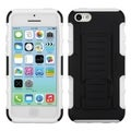 BasAcc Black/ White Car Armor Case with Stand for Apple iPhone 5C