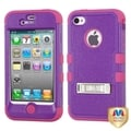 BasAcc Purple/ Hot Pink TUFF Hybrid Case for Apple iPhone 4/ 4S
