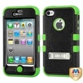 BasAcc Black/ Electric Green TUFF Hybrid Case for Apple iPhone 4/ 4S