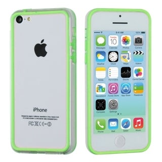 BasAcc Apple Green/ Clear MyBumper Case for Apple iPhone 5C