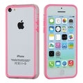 BasAcc Pink/ Transparent Clear MyBumper Case for Apple iPhone 5C