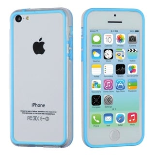 BasAcc Baby Blue/ Transparent Clear MyBumper Case for Apple iPhone 5C