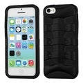 BasAcc Rubberized Black/ Black Ribcage Hybrid Case for Apple iPhone 5C
