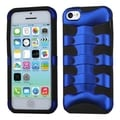 BasAcc Dark Blue/ Black Ribcage Hybrid Case for Apple iPhone 5C