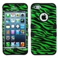 BasAcc Dark Green/ Black Zebra Skin/ Black TUFF for Apple iPhone 5