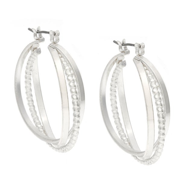 Alexa Starr Small Three-Row Hoop Earrings
