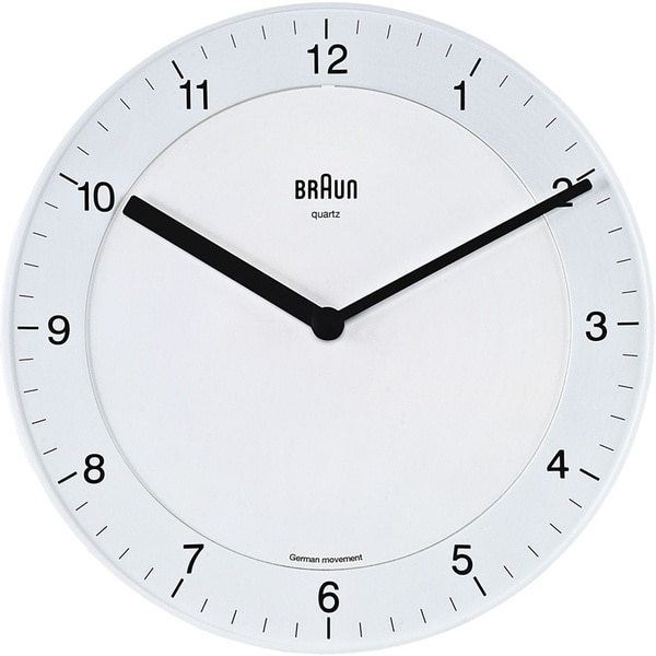 Braun Easy read Classic White Quartz Wall Clock