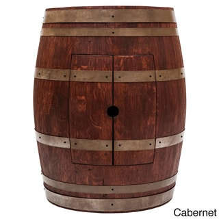 Cabernet Finish Wine Barrel Vanity and 17-inch Oval Copper Sink