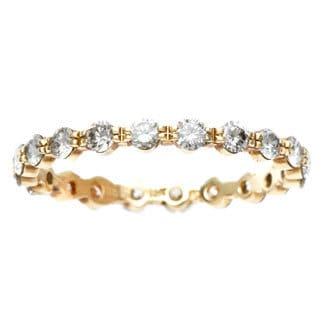 14k Yellow Gold 4/5ct TDW Diamond Eternity Estate Ring (H-I, SI1-SI2)