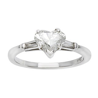 14k White Gold 1ct TDW Heart Shaped Engagement Ring (G-H, I1-I2)