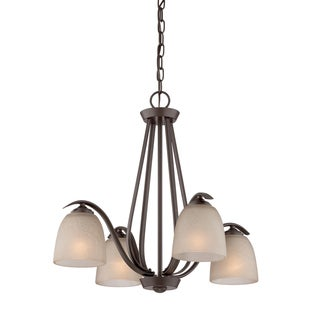 Quoizel Radcliff 4-light Western Bronze Chandelier