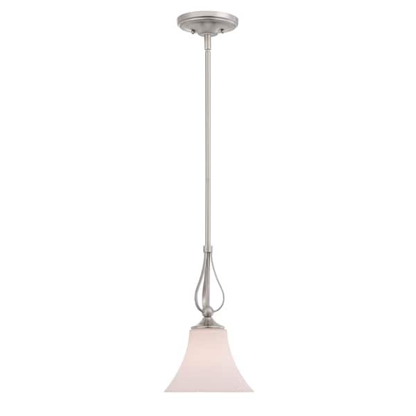 Quoizel Sophia 1-light Brushed Nickel Mini Pendant