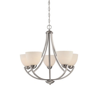 Quoizel Tucker 5-light Brushed Nickel Chandelier