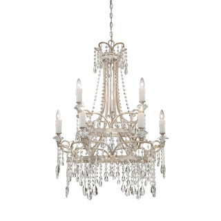 Tricia 9-light Vintage Silver Chandelier
