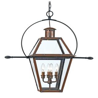 Rue De Royal 4-light Aged Copper Outdoor Hanging Lantern