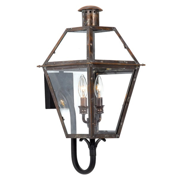 Rue De Royal 2-light Aged Copper Outdoor Wall Lantern