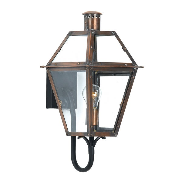 Rue De Royal 1-light Aged Copper Outdoor Wall Sconce