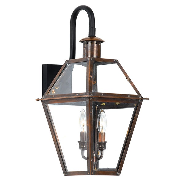 Rue De Royal 2-light Outdoor Aged Copper Wall Mount
