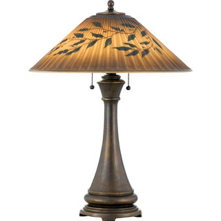 Mountain Lodge 2-light Bronze Patina Table Lamp