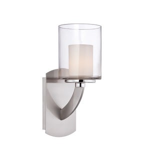 Uptown Liberty 1-light Brushed Nickel Wall Sconce