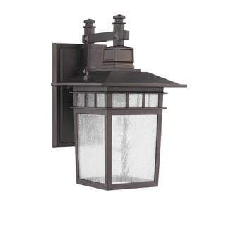 Transitional 1-light Dark Bronze Outdoor Wall Light Fixture