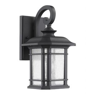 Transitonal 1-light Black Outdoor Weatherproof Wall Light Fixture