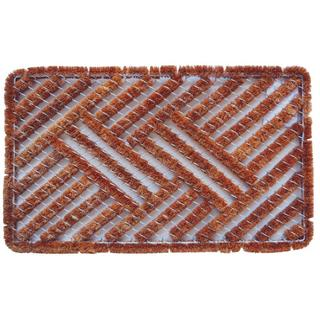 Outdoor Coconut Fiber Cross Hatch Door Mat (2'6 x 1'6)