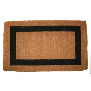 Outdoor Coconut Fiber Single Border Door Mat (4' x 2')