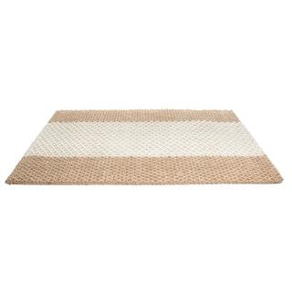 Indoor Jute Green Stripes Mat (3' x 2')