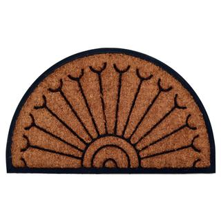 Outdoor Coconut Fiber Peacock Door Mat (2'6 x 1'6)