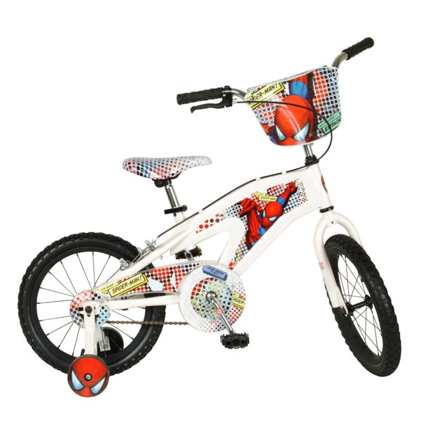 CFG White 16-inch Spiderman Bike