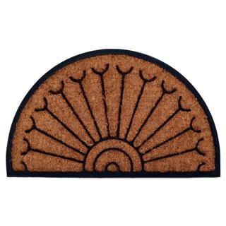 Outdoor Coconut Fiber Peacock Door Mat (4' x 2'6)