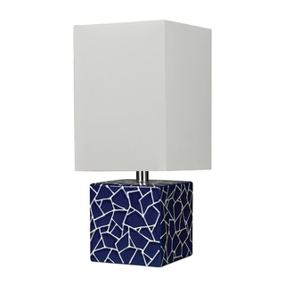 1-light Ceramic Cube Table Lamp