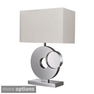 1-Light Chrome and Crystal Table Lamp
