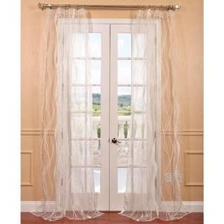 Florina White Patterned Sheer Curtain Panel