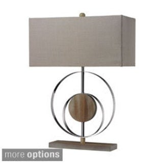1-light Washed Wood Table Lamp