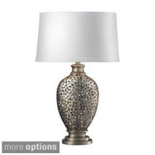 Lockerbie 1-light Antique Silver Leaf Table Lamp