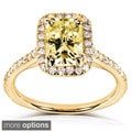14k White or Yellow Gold Yellow Radiant-cut Moissanite and 1/4ct TDW Diamond Engagement Ring (G-H, I1-I2)
