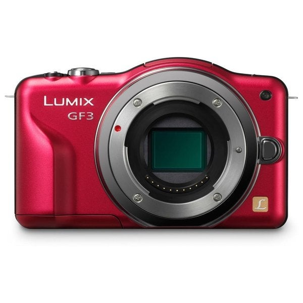 Panasonic Lumix DMC-GF3 12.1MP Red Digital Camera Body Only