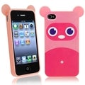 BasAcc Pink Raccoon TPU Rubber Case for Apple� iPhone 4/ 4S